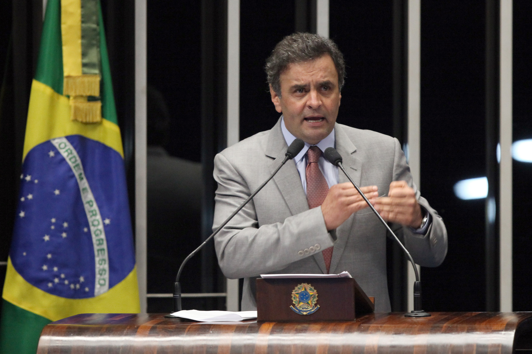 Presidential candidate, Aécio Neves from PSDB Image by: George Gianni/PSDB. Taken from: https://www.flickr.com/photos/psdbminasgerais/9142079303