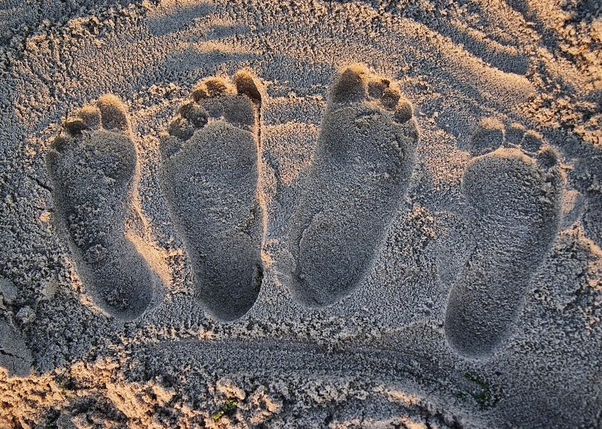 Sand Footprints Cropped