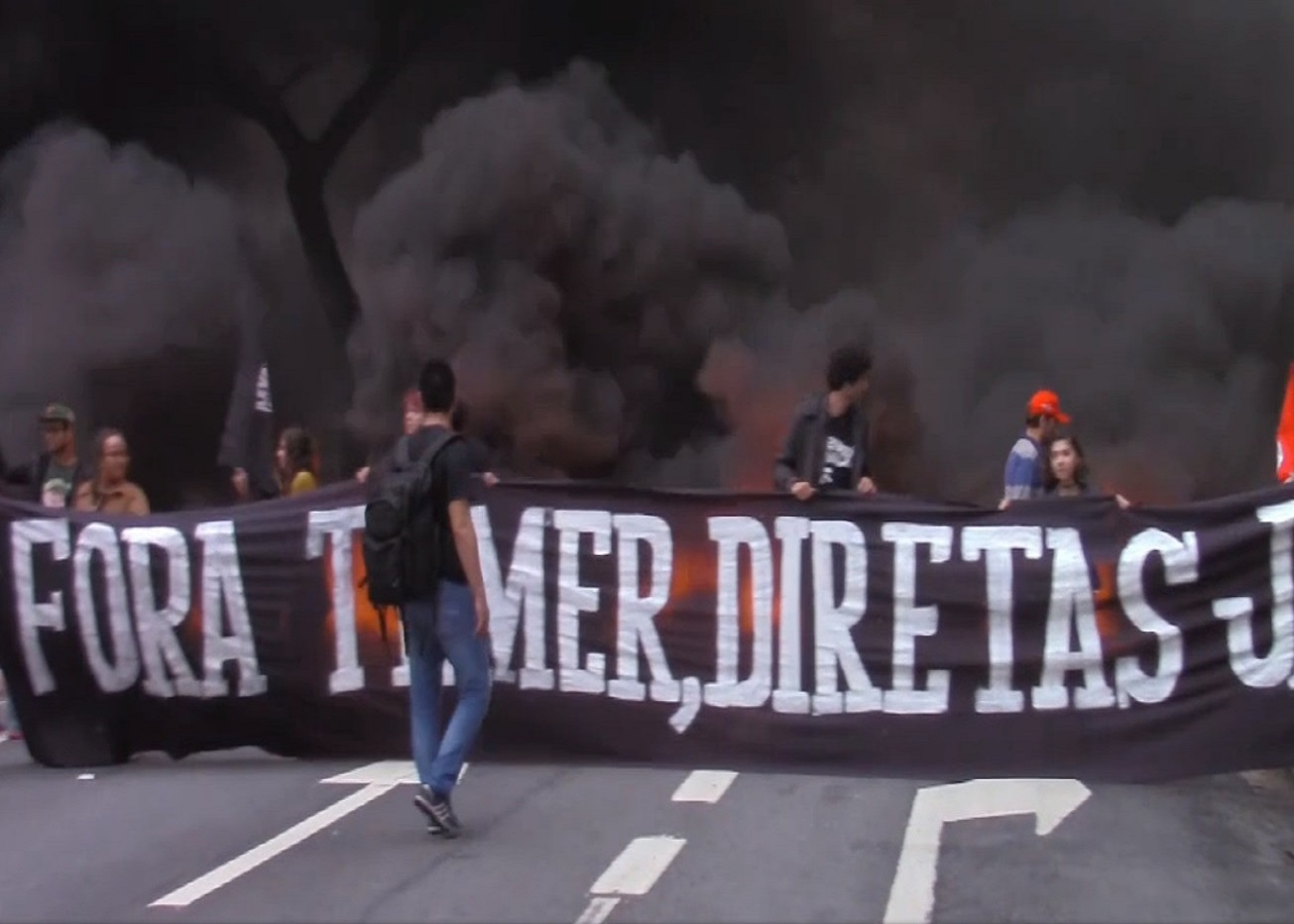 The Right to the City and the Brazilian General Strike: Short film shows housing activists joining with MST members to shut down major avenue in downtown São Paulo