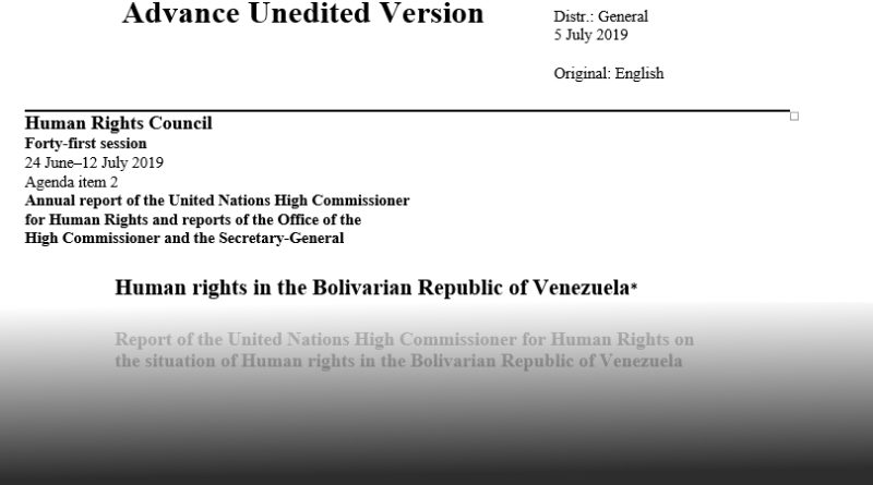 UN High Commissioner on Human Rights Bachelet's Gift to the US: Justifying Regime Change in Venezuela